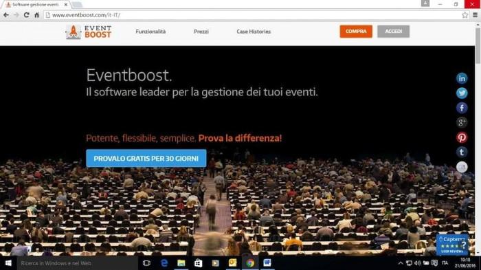 Grande successo in ambito internazionale per Eventboost, la piattaforma online per la gestione degli eventi