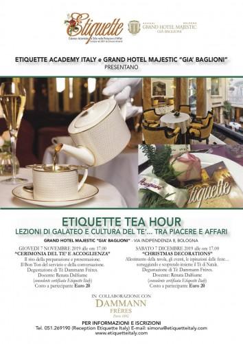 Il tè e il pranzo d'affari al centro del bon ton aziendale: nuove proposte del Majestic e di Etiquette Academy Italy